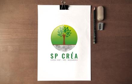 SP Créa Création du logo
