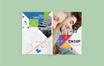 ENSUP Création d'une brochure